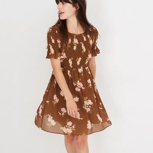 Madewell Smocked Top Dress in Retro Boutique